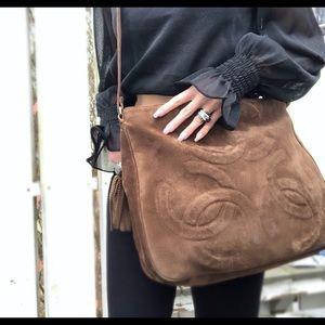 Chanel Authentic Vintage '94 Boho CC Crossbody Bag